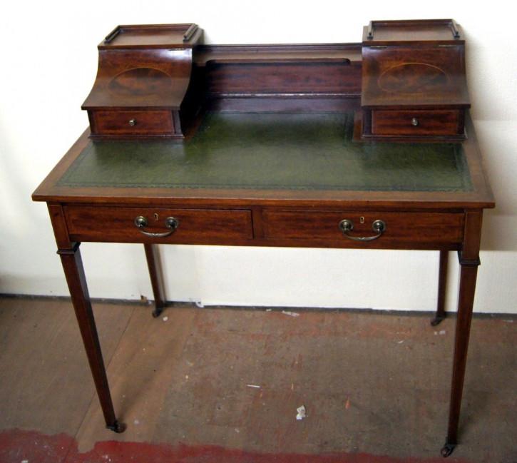 Antiker britischer Mahagoni Schreibtisch Carlston Style ca 1910