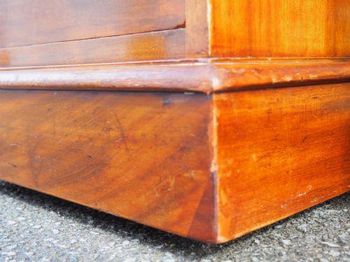 Viktorianischer englischer Massivholz Schreibtisch Mahagoni antik ca 1870
