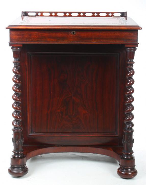 Antiker britischer Palisander Schreibtisch Davenport ca 1830