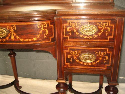 Antiker Massivholz Schreibtisch Mahagoni englisch ca 1900