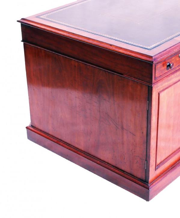 Antiker Regency Schreibtisch Mahagoni Partners Desk britisch ca 1800