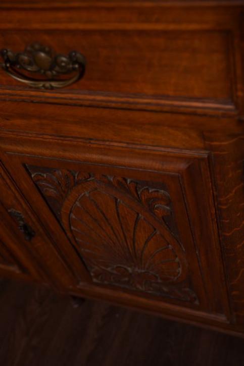 Edwardianisches antikes Eichen Sideboard englisch ca 1890