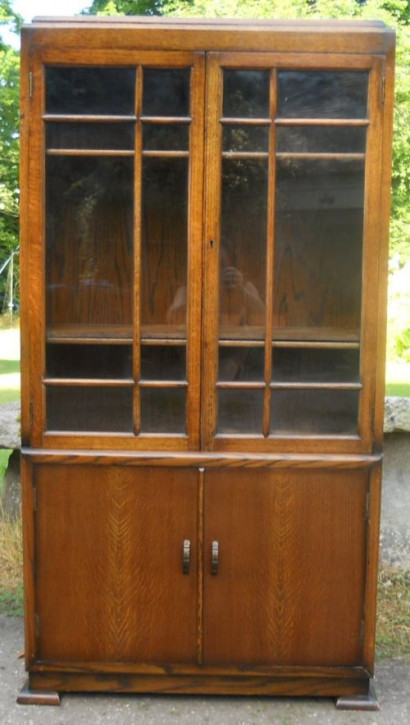 Antikes Eichen Bücherregal Massivholz ca 1920