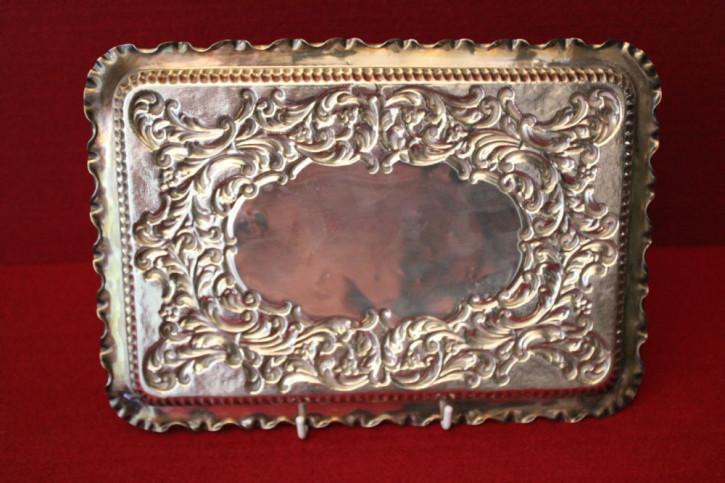 Antikes englisches Sterling Silber Tablett Silver Tray, Jay Richard Attenborough & Co., Chester, edwardianisch von 1902