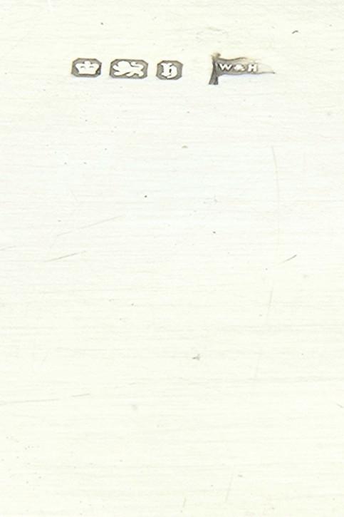 Antikes Silber Tablett / Pin Tray, Walker & Hall, 1917