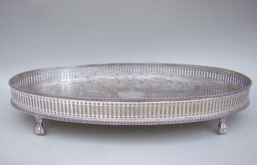 Antikes versilbertes Tablett / Silver Plated Drinks Tray, edwardianisch ca 1910