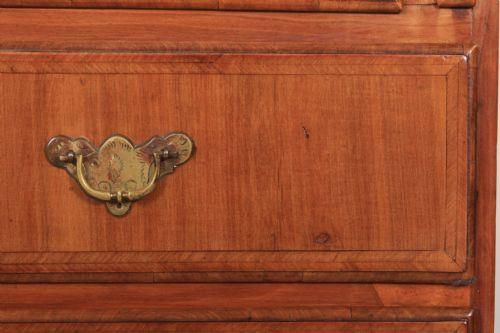 Queen Anne Sekretär Antik Obstholz Massivholzschrank Eiche-Schubladen ca. 1720