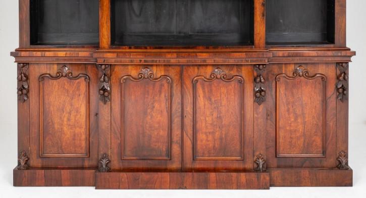 früh viktorianisches Palisander-Bücherregal