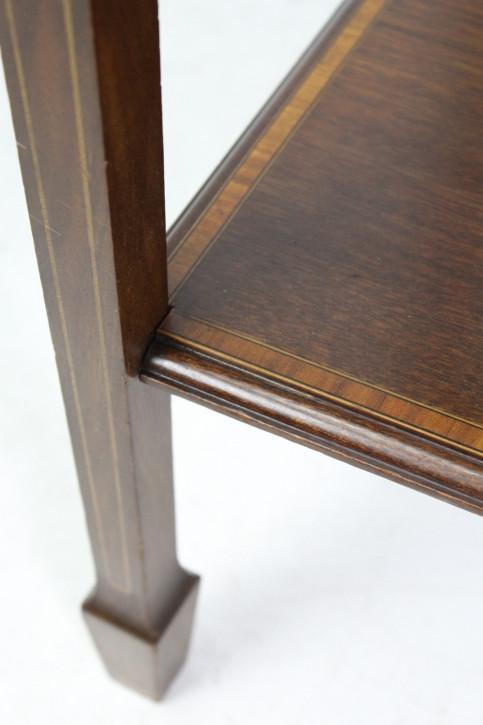 Edwardianischer Mahagoni Bijouterie Tisch Massivholz antik ca 1900