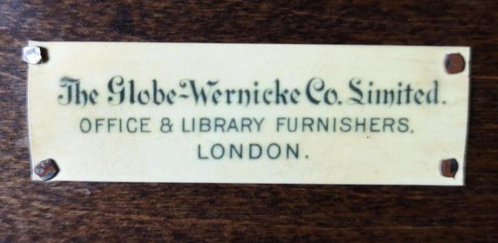 """antiker Eichen Globe Wernicke """"Barristers"""" Bücherschrank, verglast um 1900"""