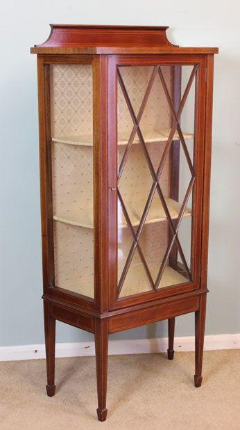 Vitrine Mahagoni Glasvitrine antik mit astragal verglasten Türen ca. 1890