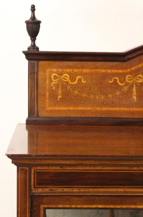 Vitrine Mahagoni Massivholzvitrine antik ca. 1890