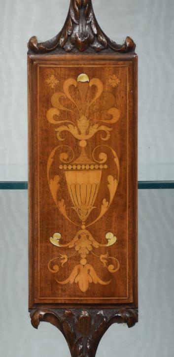 Mahagoni Vitrine antik Massivholzvitrine 19. Jahrhundert