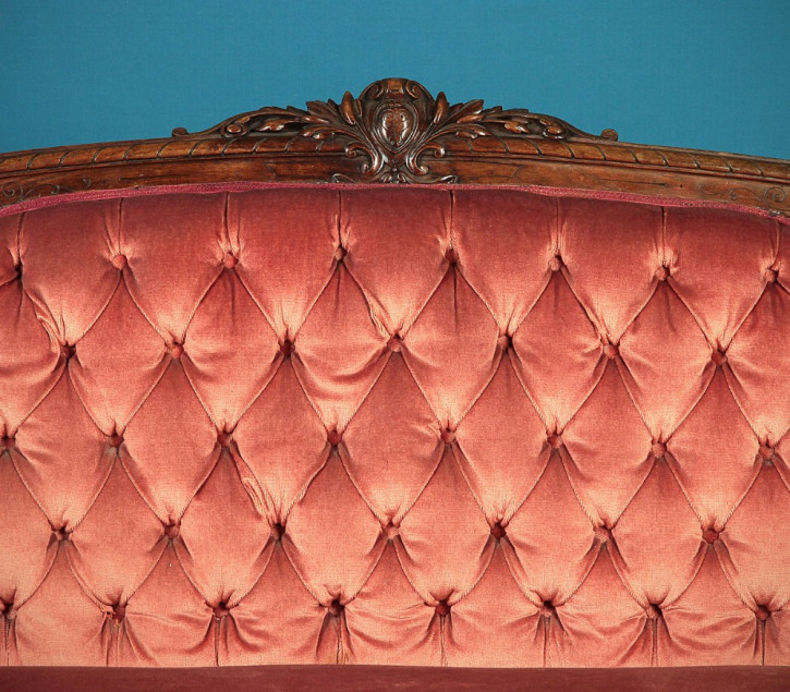Walnuss Couch Sofa antik Nussbaumholz ca.1860.