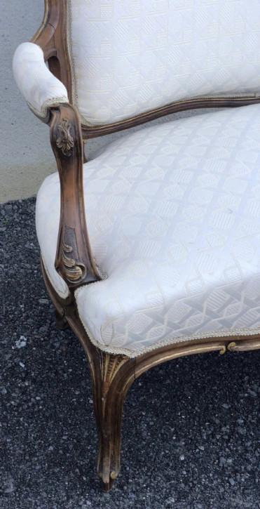 Französisches Walnuss Sofa Couch antik 19. Jahrhundert