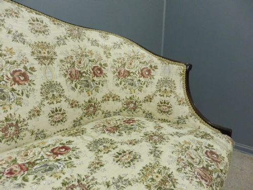 Antikes französisches Mahagoni Sofa Massivholzsofa ca. 1900