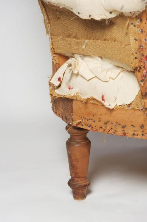 Antike Chaise Longue Liege französisch 19. Jahrhundert