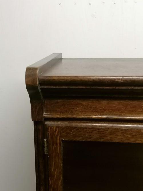 Bücherschrank antik verglaste Türen Eiche ca. 1930