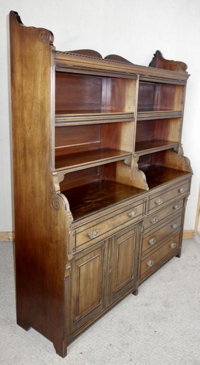 Großer viktorianischer Mahagoni Bücherschrank Massivholz antik ca 1880