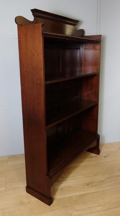 Offenes Mahagoni Bücherregal Massivholz antik ca 1920