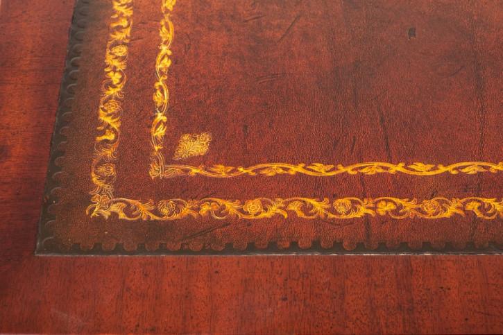 Georgianischer Mahagoni Schreibtisch Massivholz antik ca 1920