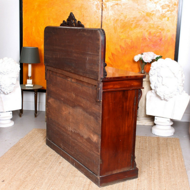 Verspiegeltes Mahagoni Sideboard Massivholz antik ca 1860
