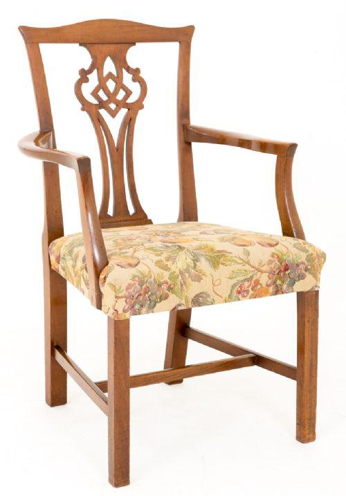 Ein Paar Mahagoni Stühle Massivholz antik ca 1800