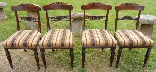Sechs Regency Mahagoni Stühle Massivholz antik ca 1830