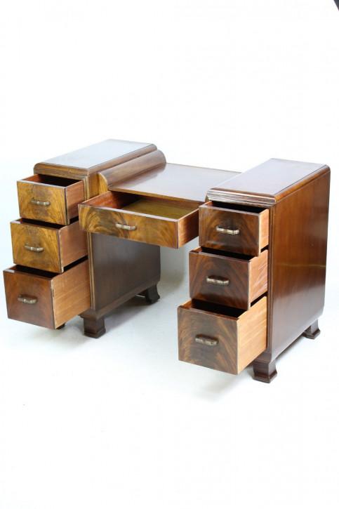 Art Deco Nussbaum Kinder Schreibtisch Massivholz antik ca 1930