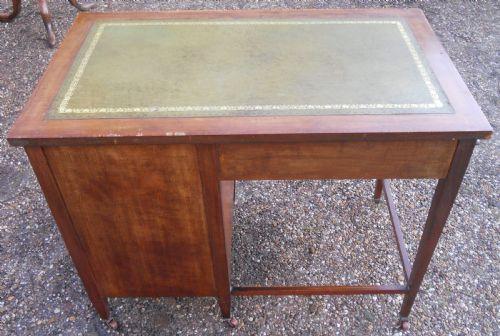 Edwardianischer Mahagoni Schreibtisch Massivholz antik ca 1900