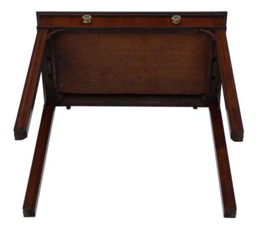 Georgianischer Mahagoni Schreibtisch Massivholz antik ca 1800