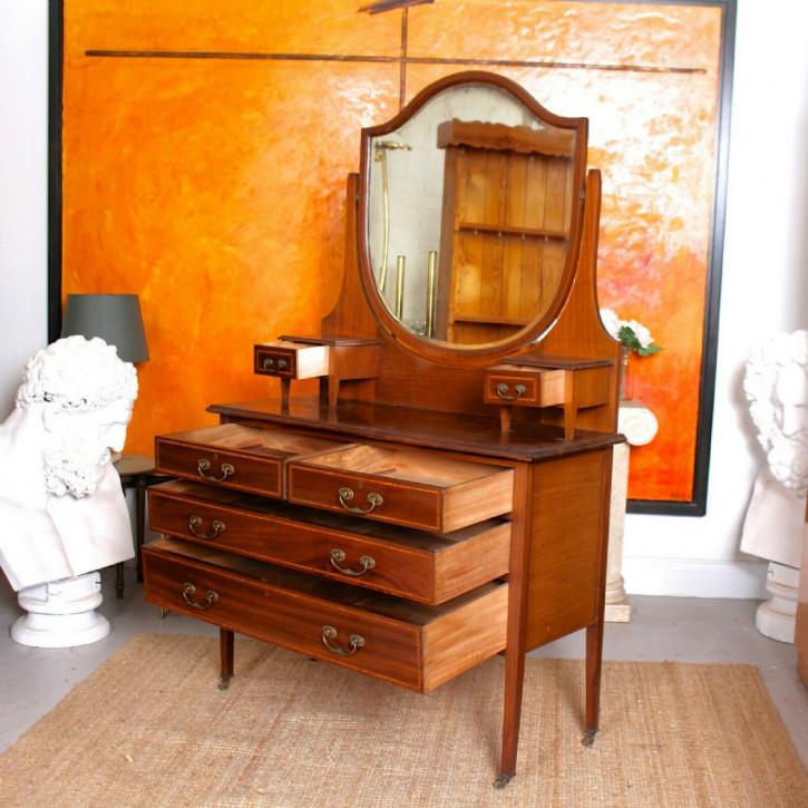 Edwardianische Spiegel Kommode aus Mahagoni