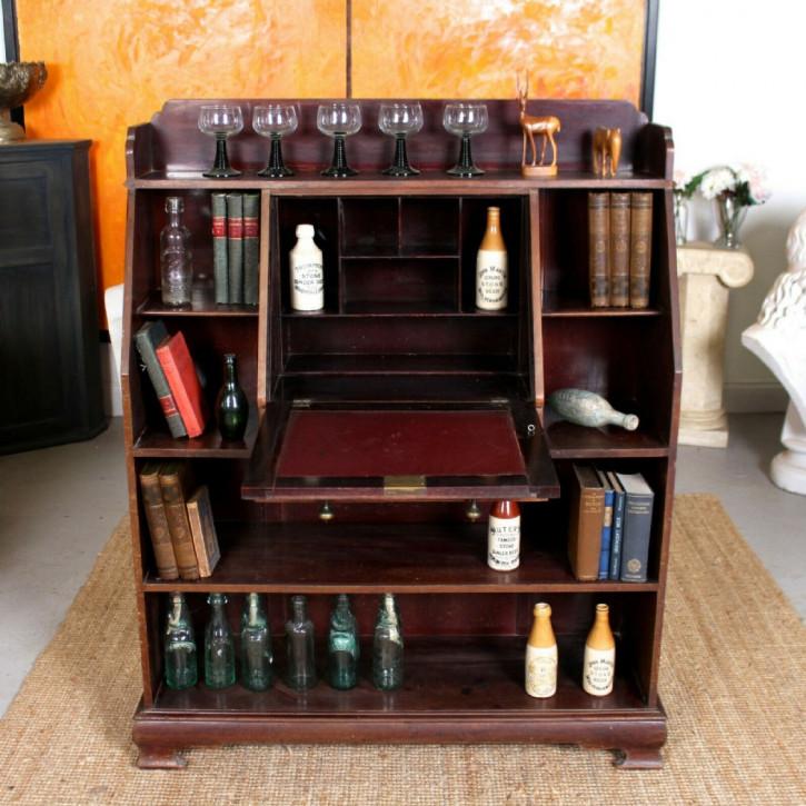 Sekretär Schreibschrank Bureau antik Mahagoni Massivholzschrank ca. 1880
