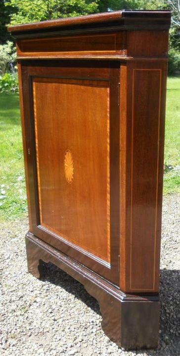 antiker Schrank zweiteilig Mahagoni Massivholz 1900