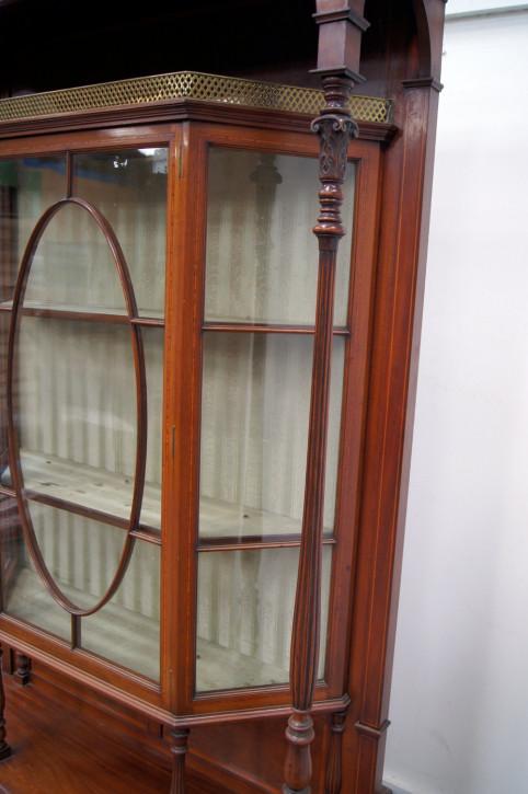 antiker Bücherschrank Massivholz 1910