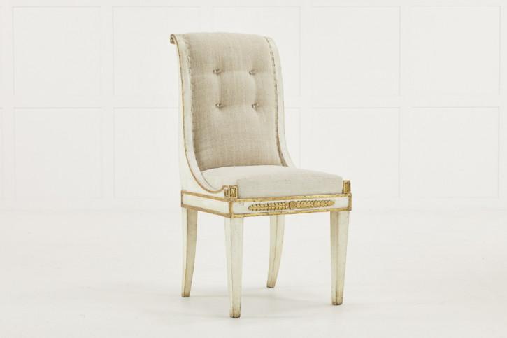 antiker Satz von Stühlen Massivholz 19. Jahrhundert italienisch