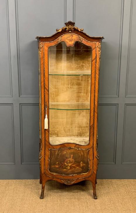 antike Vitrine aus Veilchenholz Massivholz 1890 französisch