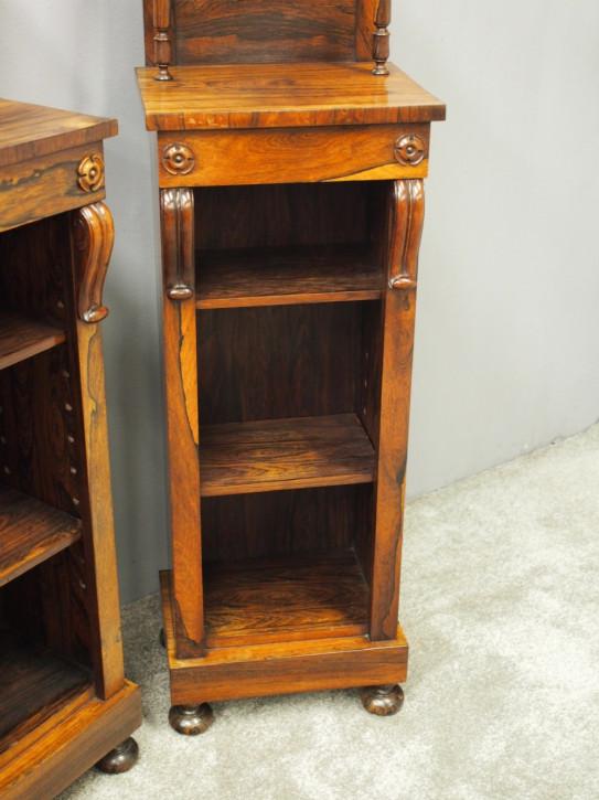 antikes Paar Bücherschränke Palisander Massivholz 1830 George IV.