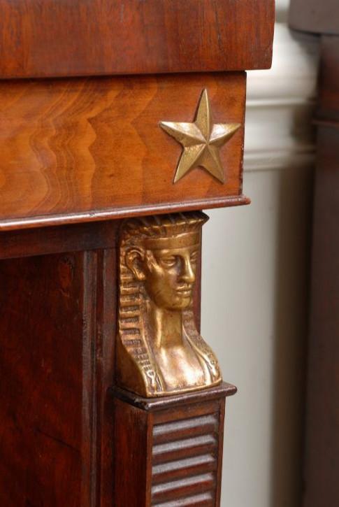 antikes Paar Bücherschränke Mahagoni Massivholz 19. Jahrhundert