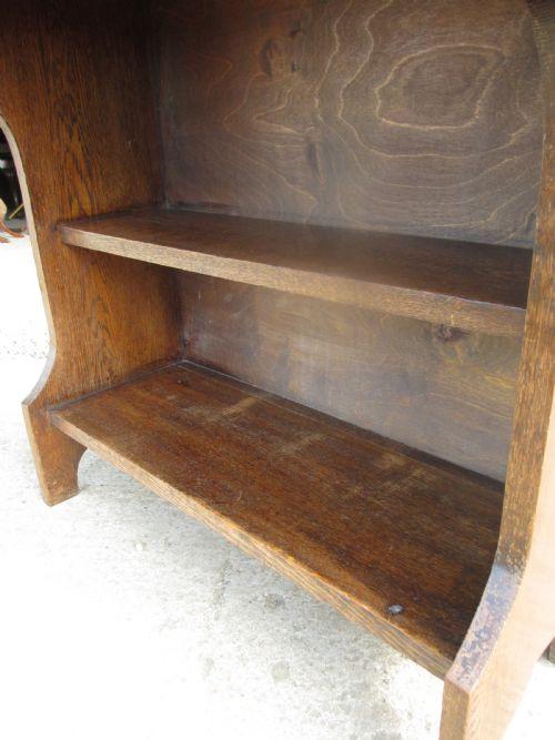 Antikes Bücherregal mit integriertem Bureau aus Eiche, edwardianisch, ca. 1900