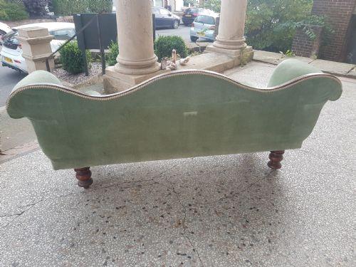antikes Sofa aus Mahagoni Massivholz 1860