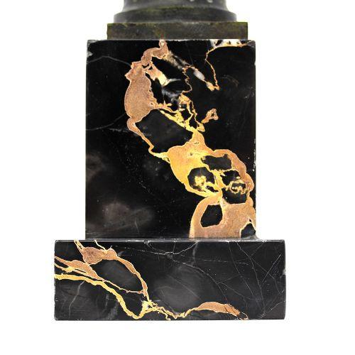"""Antike Art Deco Bronzefigur mit dem Titel """"Die Versuchung"""" von Serge Zelikson"""