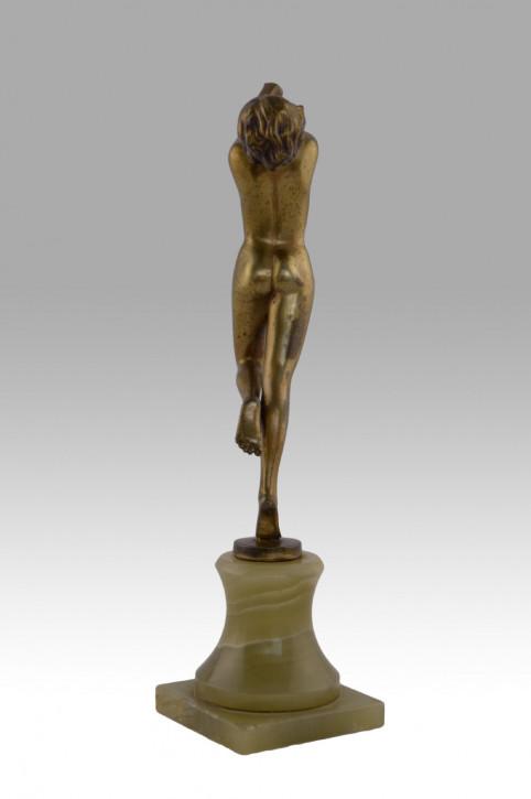 Antike Art-Deco-Bronzeskulptur von Josef Lorenzl