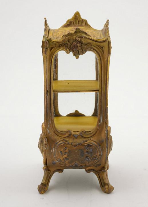 Kleine, französische Vitrine aus Zinn, um 1900 antik