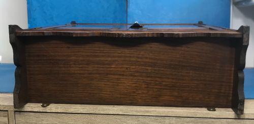 Antiker, edwardiansicher Schmuckschrank aus Eichenholz Massivholz um 1910