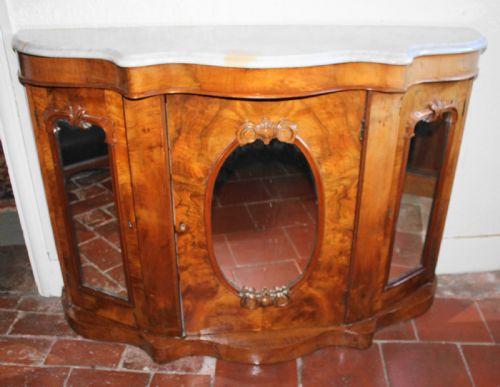 Antike Credenza aus Walnussholz Massivholz viktorianisch