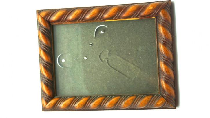 Holzrahmen   cable stitch  Vintage