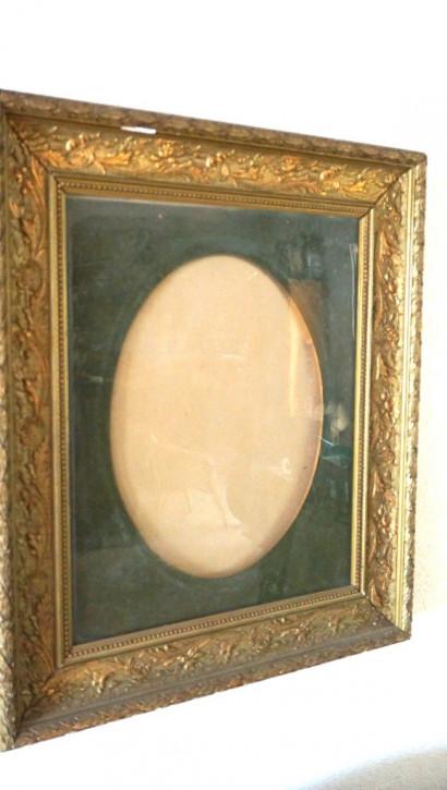 Antiker Goldrahmen aus dem 19.Jh Frankreich ovales PP