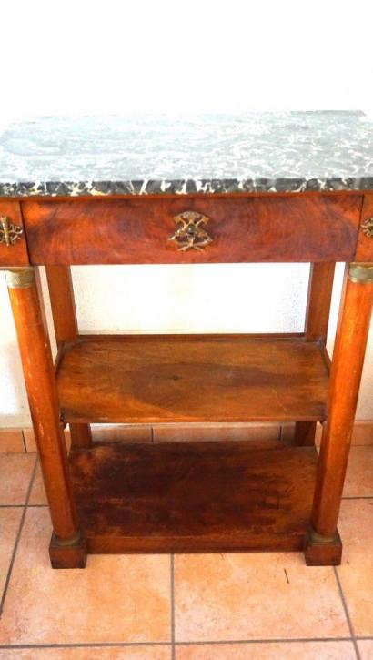 Französische Etagère aus Holz Mamorplatte Louis. Phillip