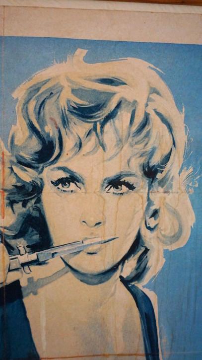 Filmposter Original  Druck La Loi im Holzrahmen Vintage